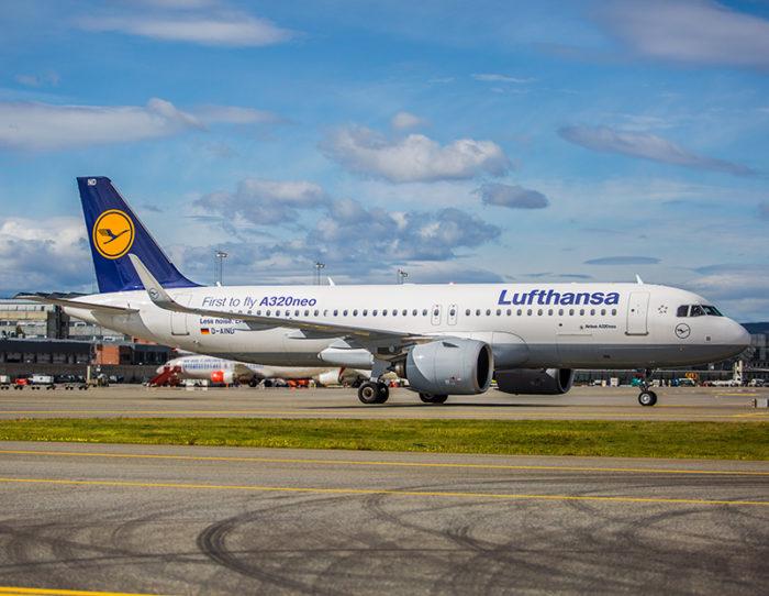 Dagens Airbus A320neo på Oslo Lufthavn - Foto: Hans O. Nyborg